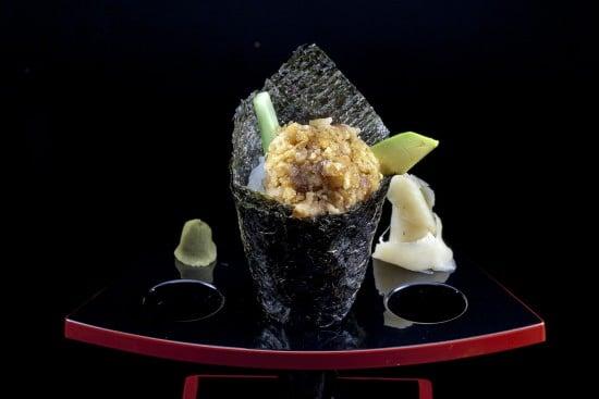 מנת ספייסי טאקה טמאקי במסעדת הסוהו