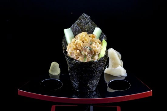 מנת ספייסי סאקה טמאקי במסעדת הסוהו