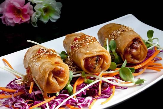 מנת אגרול טייוואני במסעדת הסוהו