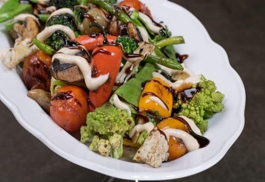 תפריט סוהו - מנות ראשונות - ירקות טפניאקי